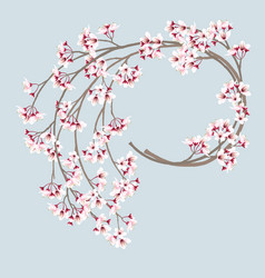 Cherry blossom wreath vector
