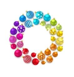 Colorful Christmas Glass Balls vector image