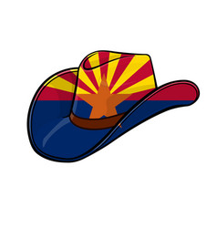 Cowboy stetson hat with arizona flag vector