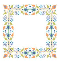 Detailed garnished oriental frame vector
