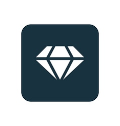 diamond icon Rounded squares button vector image