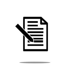 document icon with pen in trendy flat style vector image
