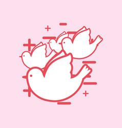 dove birds design vector image
