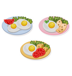 egg healthy breakfast fresh tasty meal cheese vector image
