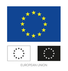 eu flag - european union icon vector image