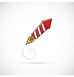 Firework Rocket Symbol Icon or Label vector image