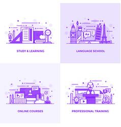 flat line purple designed concepts 6 vector image vector image