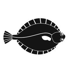 Flounder icon simple style vector