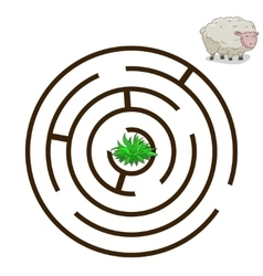 Game labyrinth find a way sheep vector image