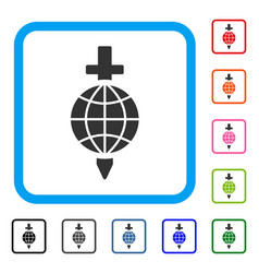 global safety framed icon vector image