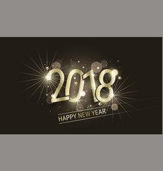Glowing new year banner with golden inscription vector