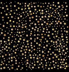 gold stars seamless patterns vector image