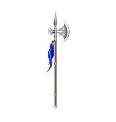 halberd on a white vector image