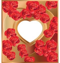 heart frame 3 vector image