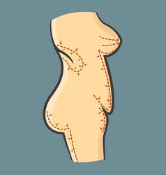 Human body for liposuction vector