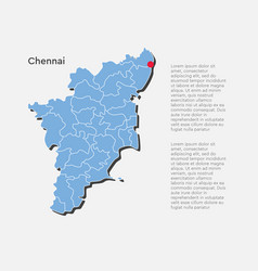 India country map and tamil nadu state template vector