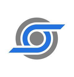 letter o vision logo icon vector image