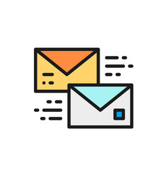 Letter receive and send a message bubble vector