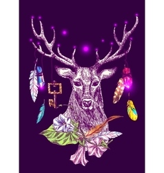 magic deer vector image