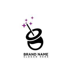 Magic lab logo design template vector