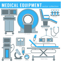 Medicine and healthcare medical equipment tools vector