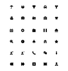Mini Icons 18 vector