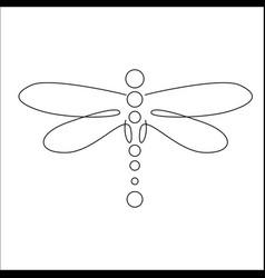 Minimalist elegant dragonfly vector