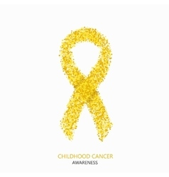 modern childhood cancer awareness circles vector image