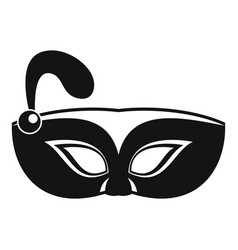 night mask carnival icon simple style vector image