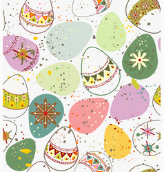 ornamental easter eggs vector image