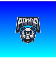 Panda logo premium vector