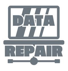 Pc data repair logo simple style vector