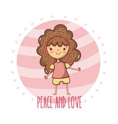 Peace and love cartoons vector