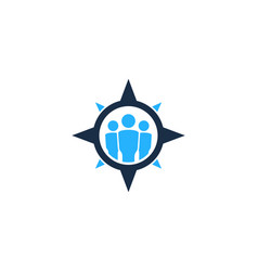 People compass logo icon design vector