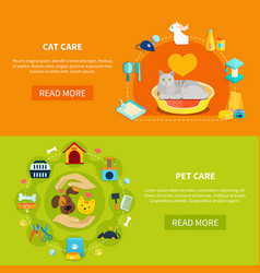 pet care banners vector image