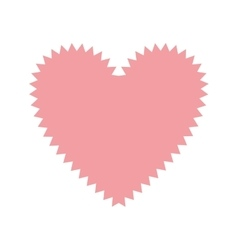 Pink heart shape with irregular border vector