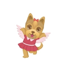 Puppy With The Wings vector image