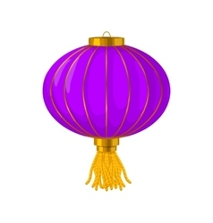 Purple chinese paper lantern icon cartoon style vector image