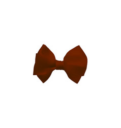 Red realistic bow vector