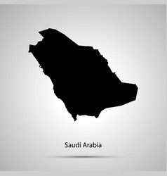 Saudi arabia country map simple black silhouette vector