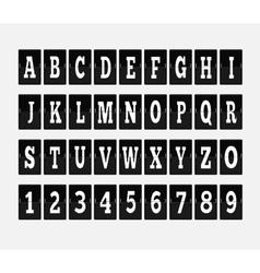 Scoreboard Alphabet and Set of Figures vector