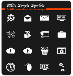 Seo icon set vector