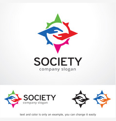 Society logo template design vector