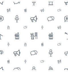 Speak icons pattern seamless white background vector