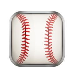 Square icon for baseball app or games vector image