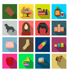 textiles entertainment travel and other web icon vector image