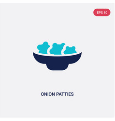 two color onion patties icon from culture concept vector image