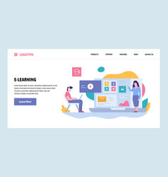 Web site gradient design template online vector