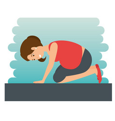 yoga training for healthy pregnancy vector image