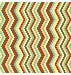 Zigzag stripes in retro colours seamless pattern vector